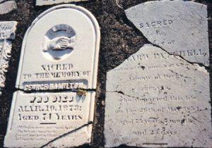 George Hamilton gravestone